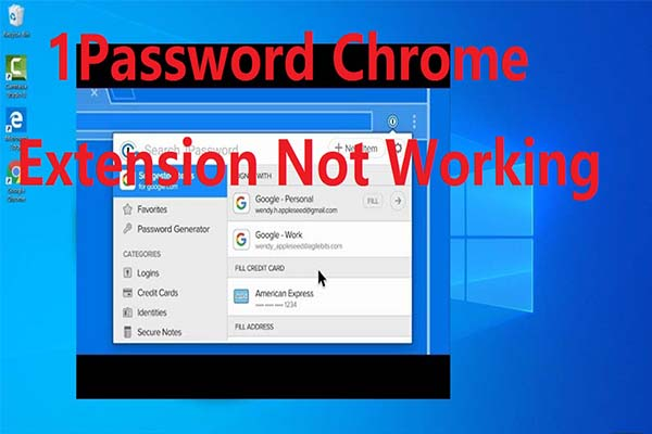 1password chrome extension not working thumbnail