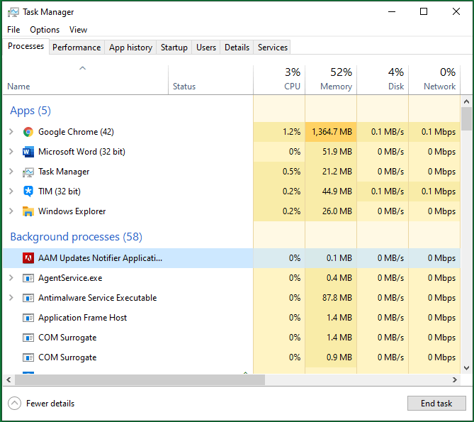 End Unnecessary Processes in Task Manager