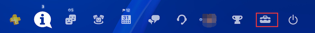 press Settings icon PS4