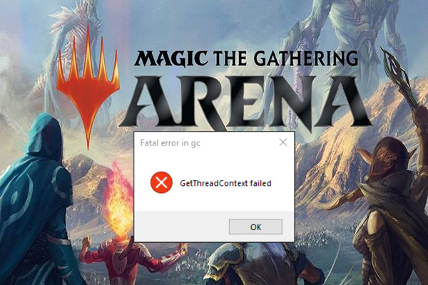 MTG Arena get thread context failed
