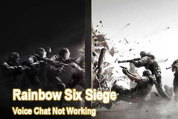 Rainbow Six Siege voice chat not working