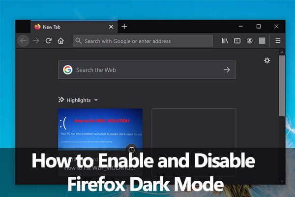 Firefox dark mode