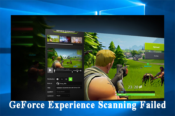 GeForce Experience scanning failed