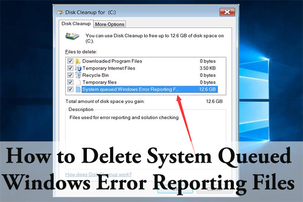 system queued Windows Error Reporting