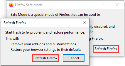 refresh Firefox