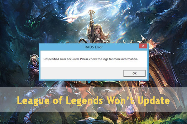 league of legends wont update thumbnail