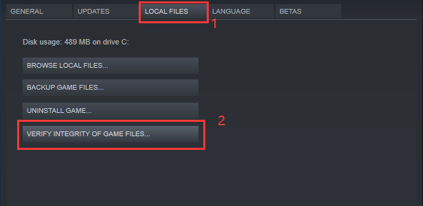 verify the integrity of game files