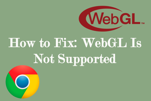 WebGL is not supported