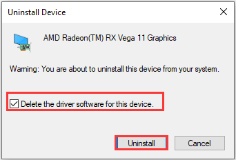 uninstall graphics card driver