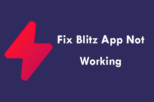 Blitz app not working