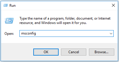 open system configuration from run window