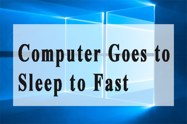 computer goes to sleep too fast thumbnail
