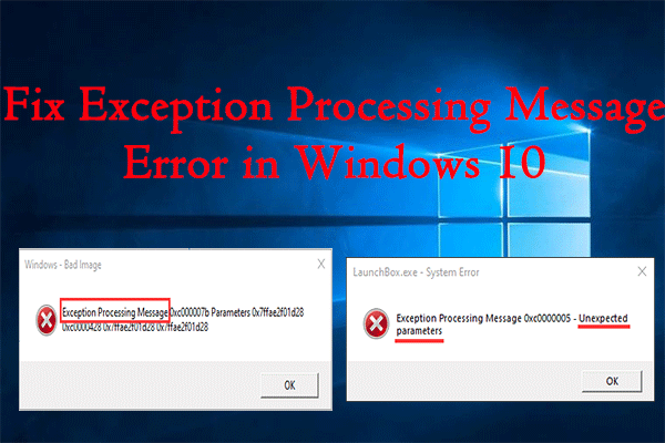 Exception Processing Message