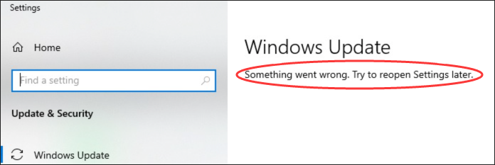Windows Update something went wrong