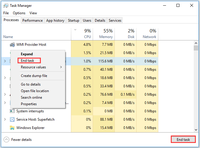 end the Origin process through Task Manager