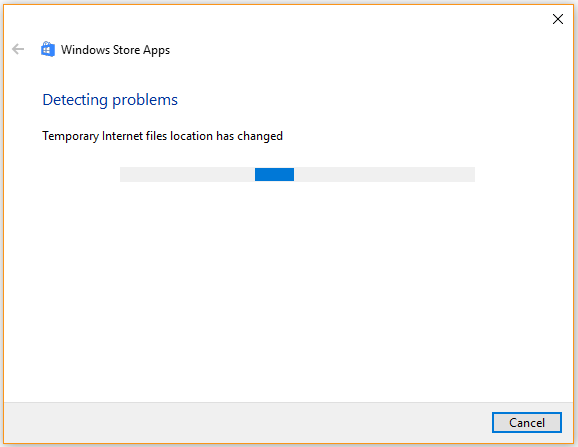 Windows Store Apps troubleshooter is detecting the issues