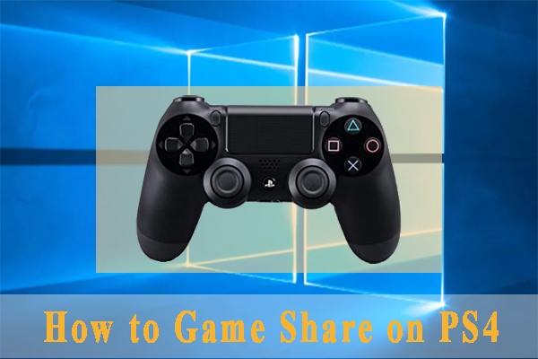 how to game share on PS4