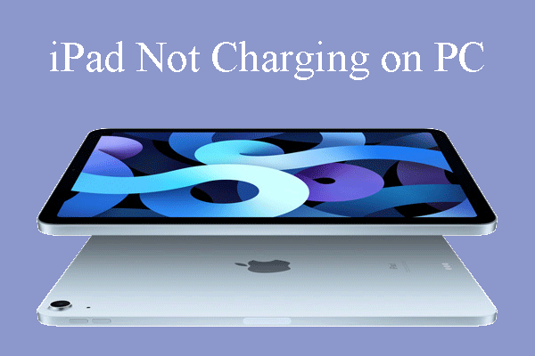 iPad not charging on PC