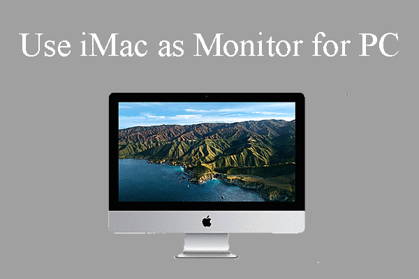 use iMac as monitor for PC