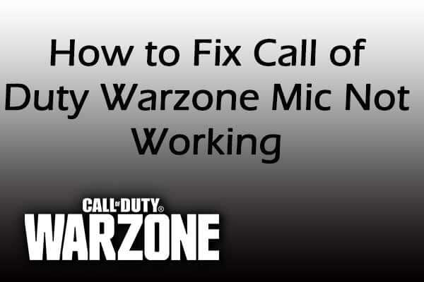 Warzone mic not working