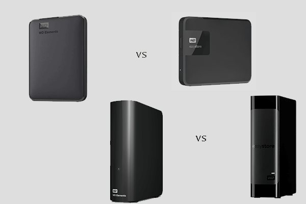 WD Elements vs WD Easystore
