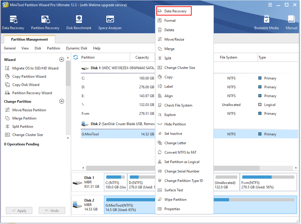recover lost data from an external drive