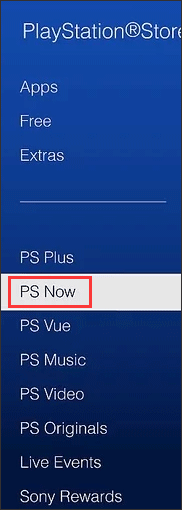 choose PS Now