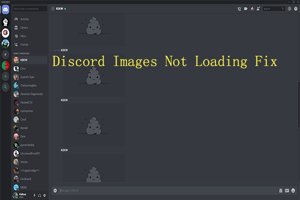 discord images not loading thumbnail