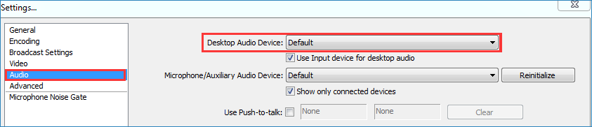 set desktop audio device default