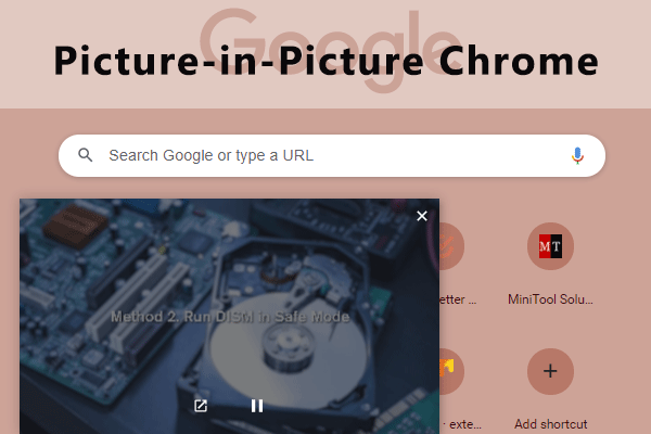 Picture-in-Picture Chrome