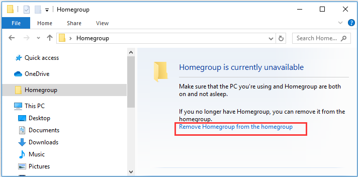 Remove Homegroup from the homegroup