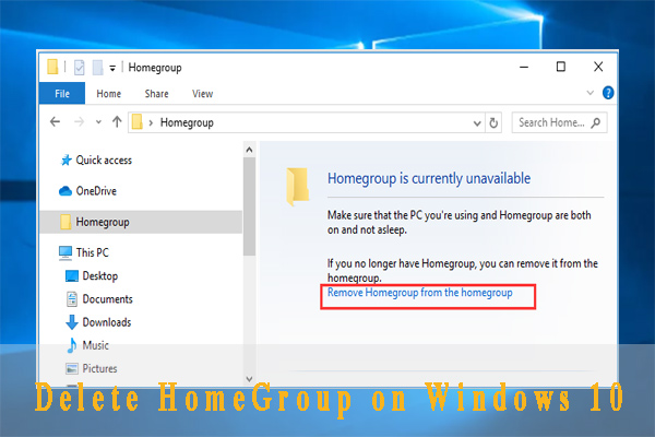 delete HomeGroup