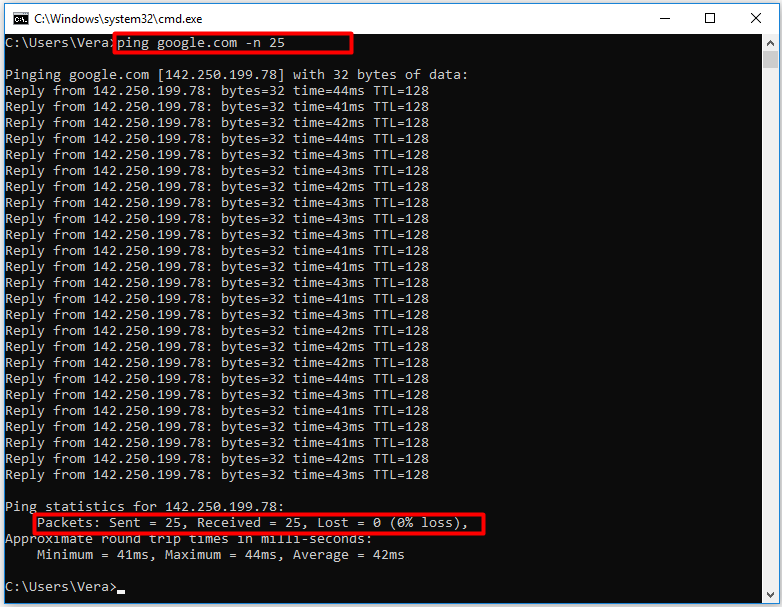 test packet loss due to network congestion