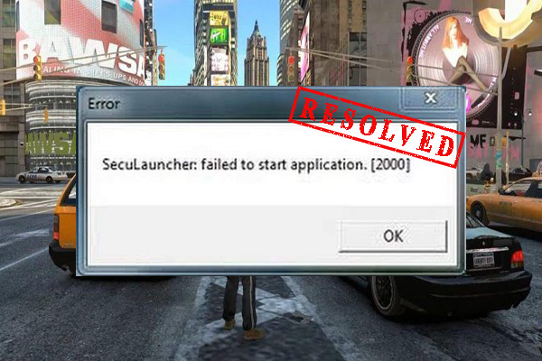 seculauncher failed to start application 2000 thumbnail