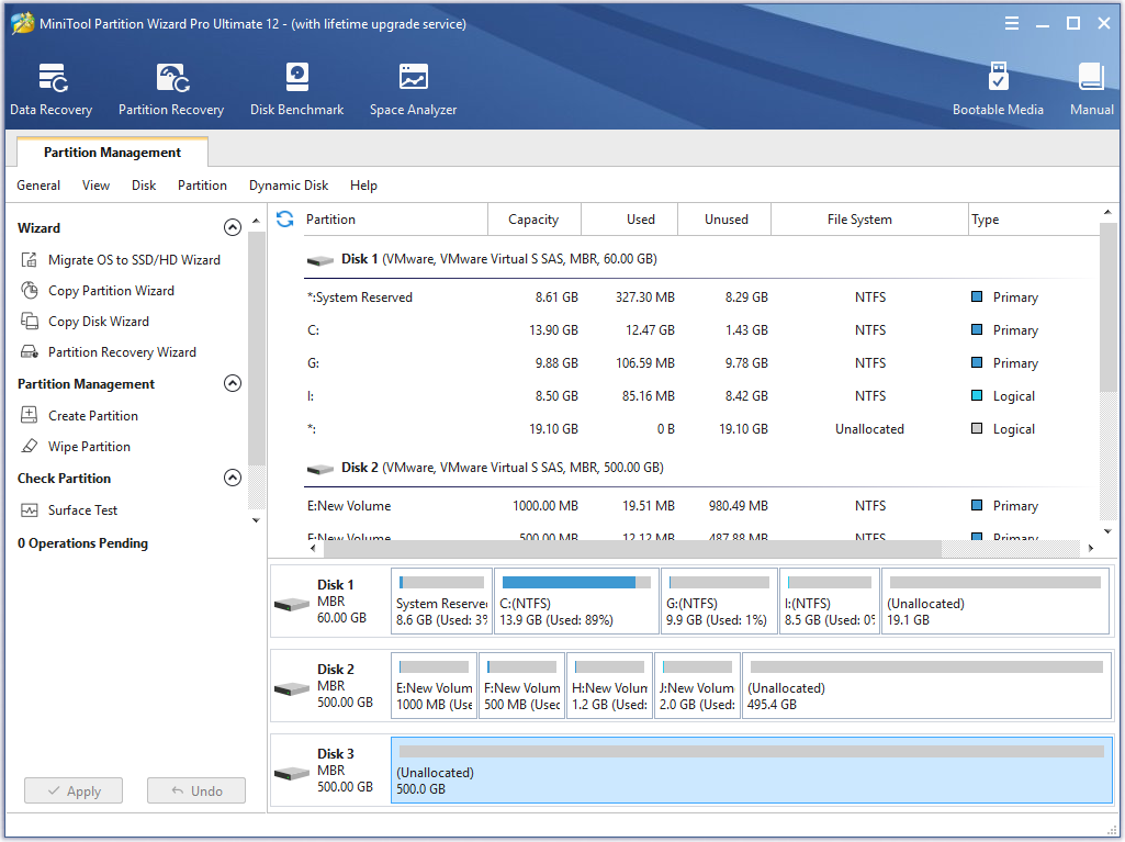 Disk Map Location of Parion Manager | MiniTool Parion Wizard ... Disk Map on