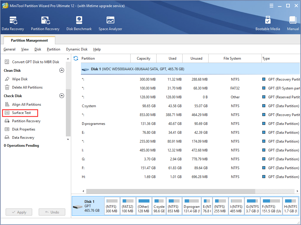 How to Make Disk Surface Test | MiniTool Partition Wizard