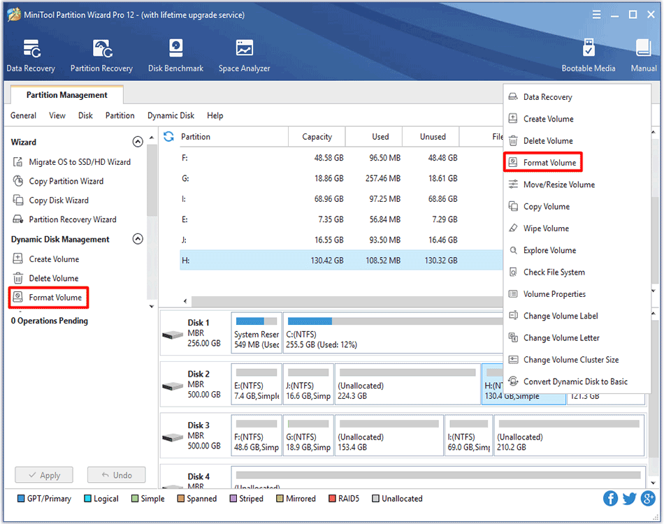 how to enable Format Volume feature