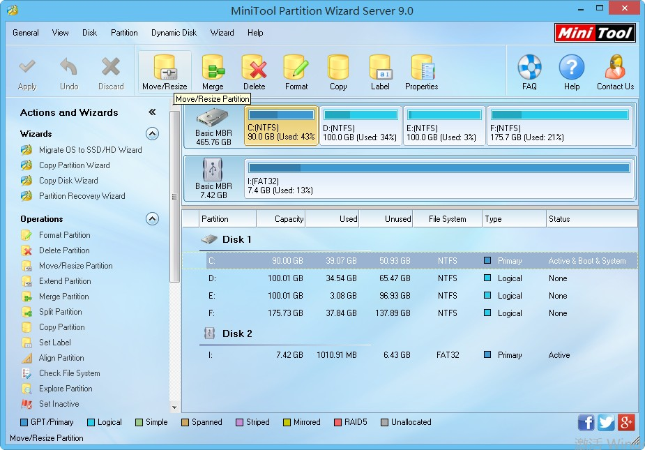 Professional server partition manager.